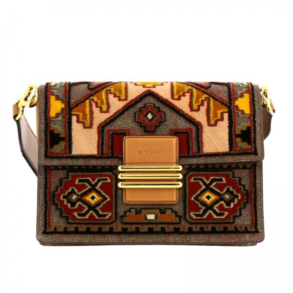 Rainbow Etro bag with embroidery