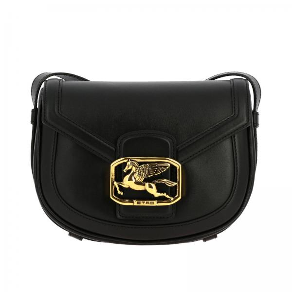 Pegaso Etro bag in leather with maxi metal plate