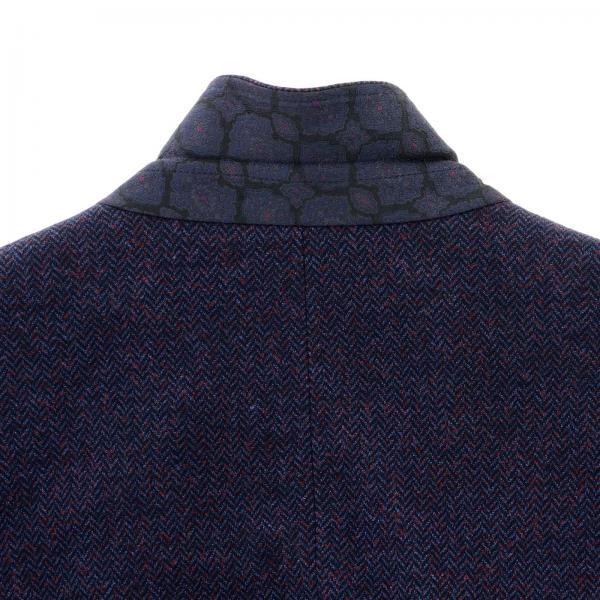 152 Etro Bottoni Jersey A BlueGiacca Due Di 1187q Monopetto In Spina Blazer Uomo Pesce IgYfby76v
