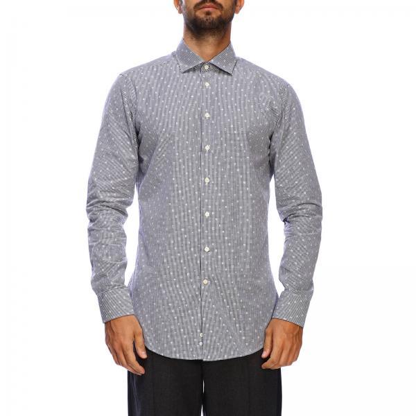 Etro slim shirt with vichy pattern and Italian collar