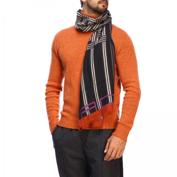 Etro cashmere and silk scarf with logo
