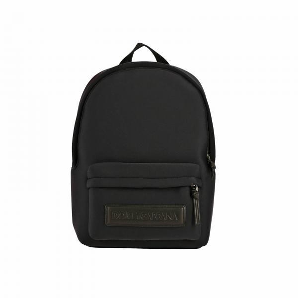 Dolce & Gabbana neoprene backpack with maxi leather logo