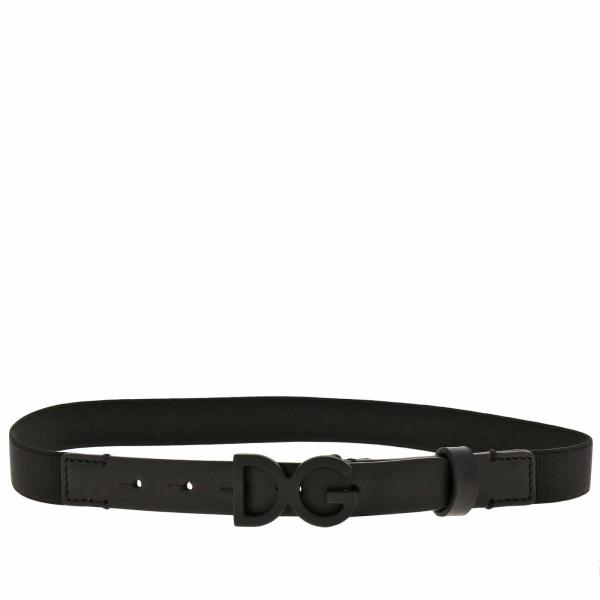 Dolce & Gabbana leather belt with elastic structure
