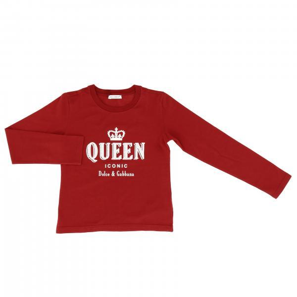 Dolce & Gabbana T-shirt à manches longues avec impression queen
