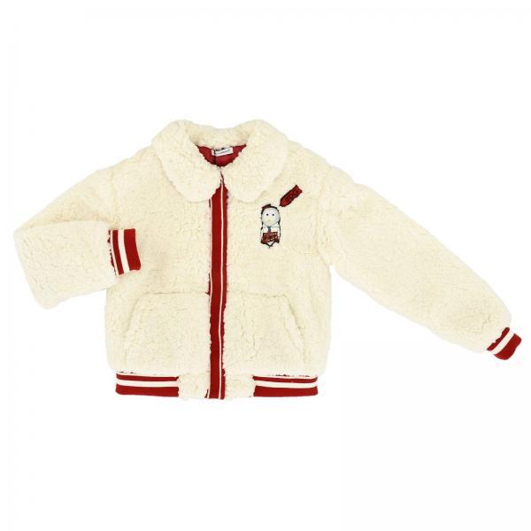 Bomber Dolce & Gabbana en peluche avec patch logo