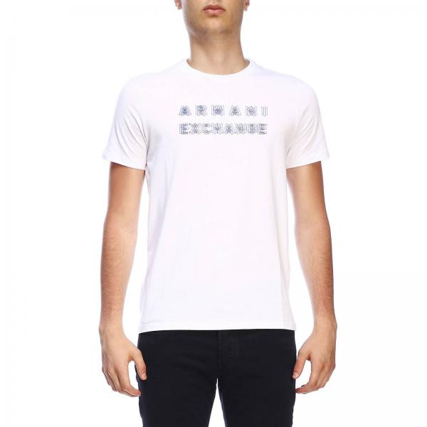 Armani Exchange short-sleeved T-shirt with maxi print