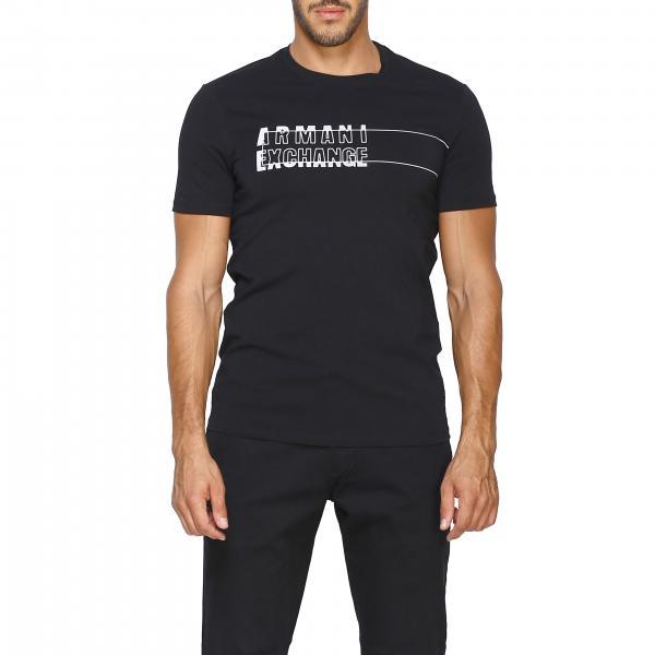 Armani Exchange logo印花短袖T恤