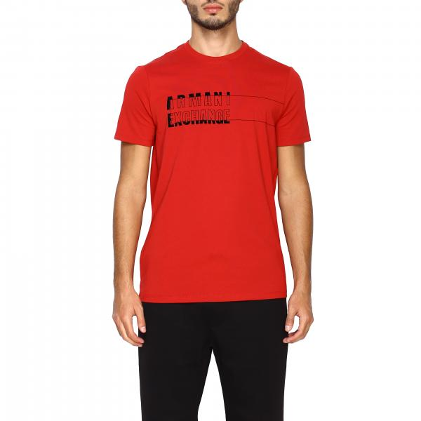 Armani Exchange short-sleeved T-shirt with maxi logo