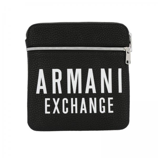 Armani Exchange bag in synthetic leather with big logo