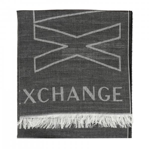 Шарф Armani Exchange с макси-логотипом