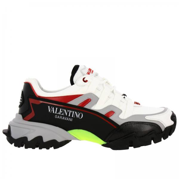 Valentino Garavani Climbers running leather Sneakers in micro mesh with Sport maxi sole