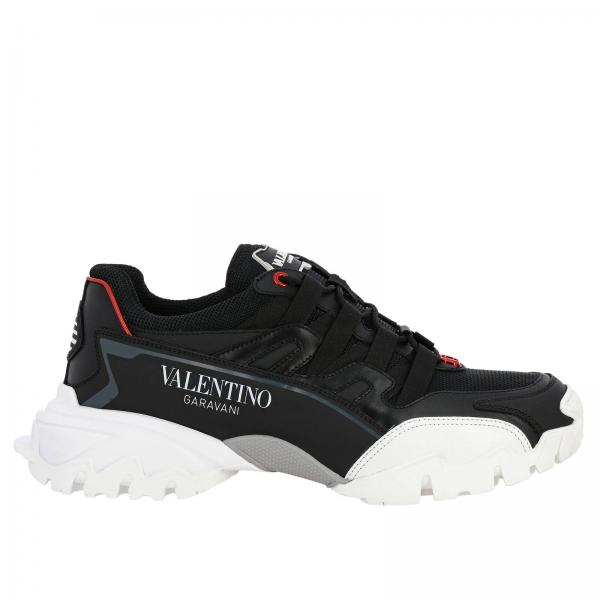 Valentino Garavani Climbers running leather Sneakers with micro mesh and Sport maxi sole