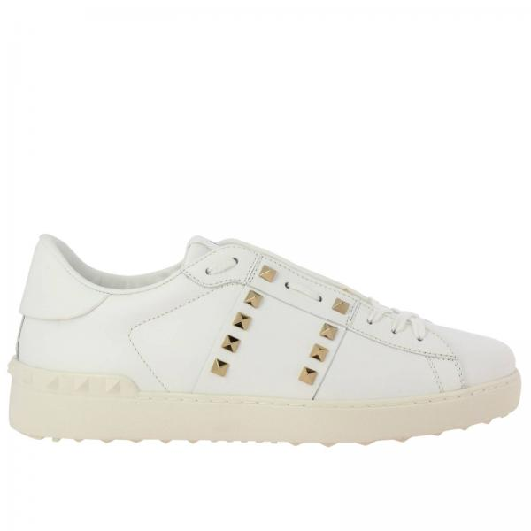 Untitled 11 Rockstud Spike laced Sneakers by Valentino Garavani