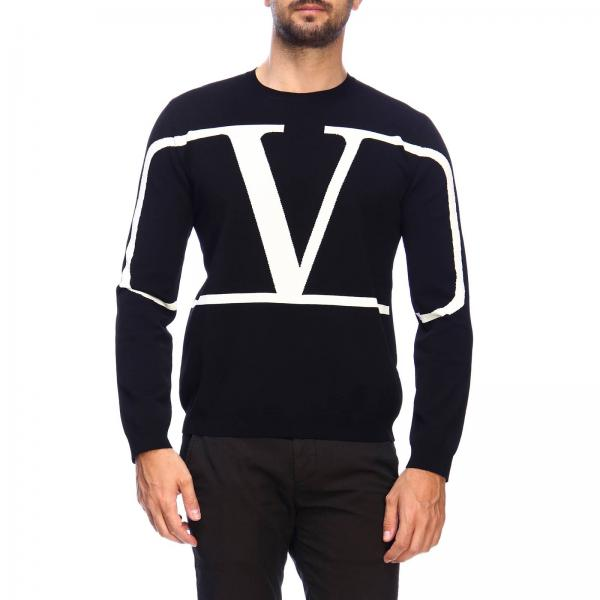 Valentino long-sleeved sweater with VLogo monogram in jacquard