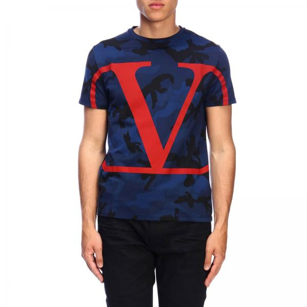 Valentino short-sleeved T-shirt with camouflage print and VLogo