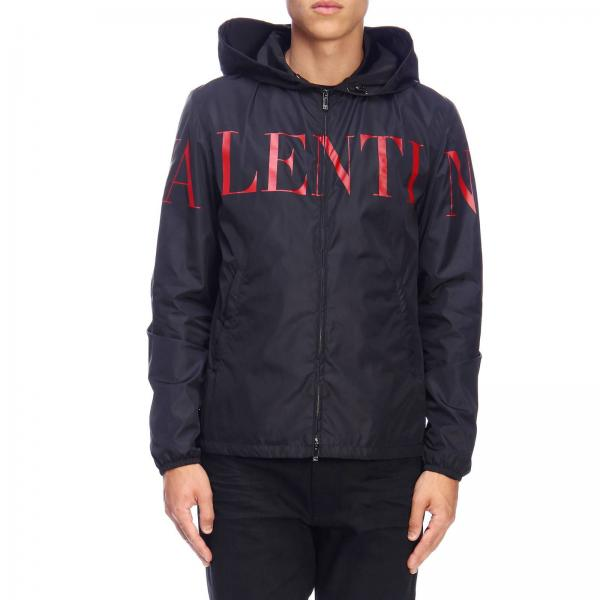 Valentino nylon jacket with hood and logo