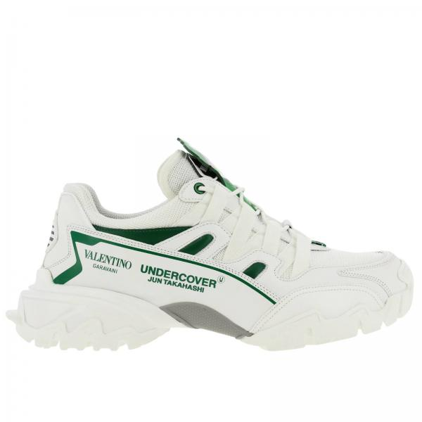 Valentino Garavani undercover Climbers genuine leather sneakers in micro net with v face patch