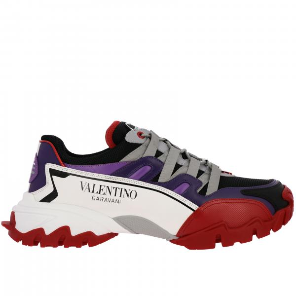 Valentino Garavani Climbers genuine leather Sneakers and micro mesh