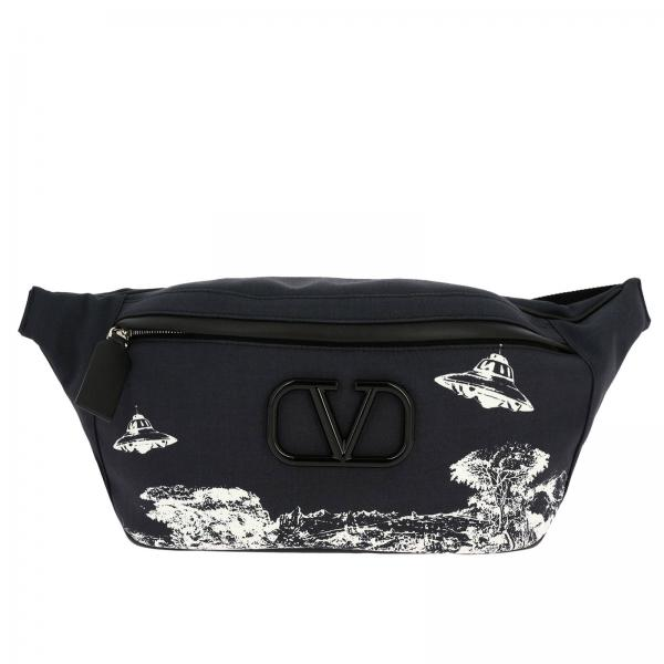 Undercover time traveler belt bag in printed nylon by Valentino Garavani