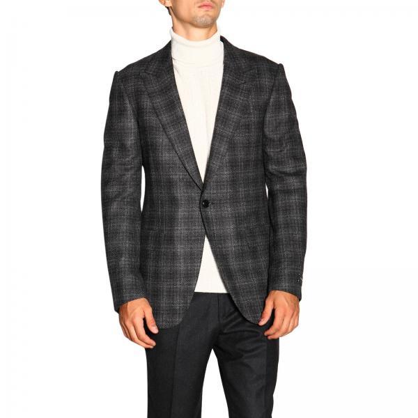 Ermenegildo Zegna single-breasted jacket in Prince of Wales fabric