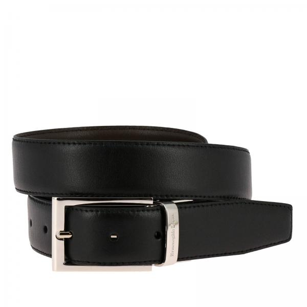 Cinturón clásico de Ermenegildo Zegna de cuero genuino reversible
