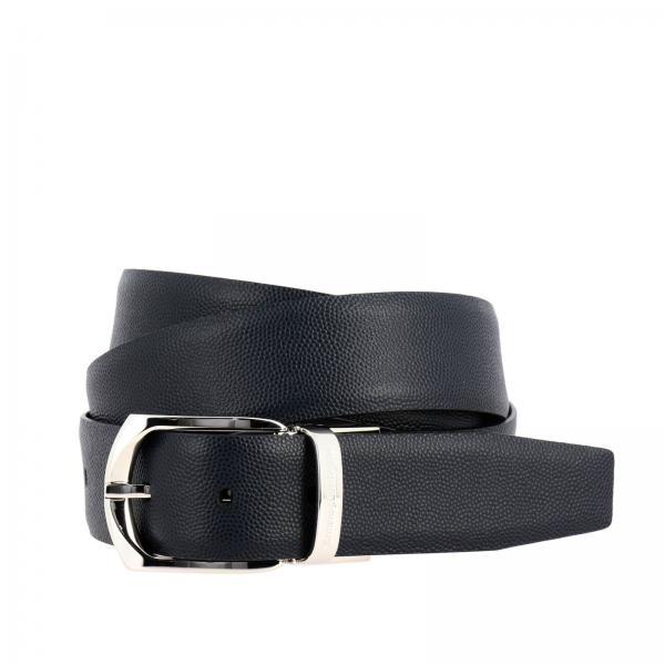 Classic Ermenegildo Zegna belt in real reversible leather