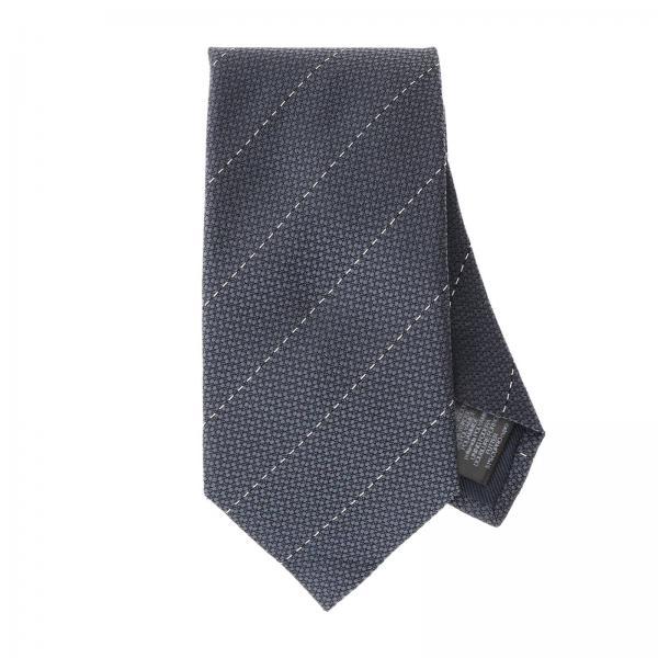 Ermenegildo Zegna 8 cm silk tie with micro diagonal lines
