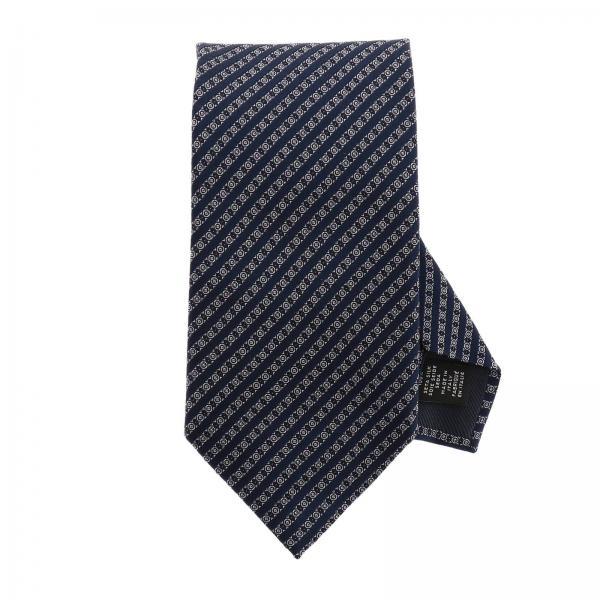 Ermenegildo Zegna tie 8 cm in micro patterned silk