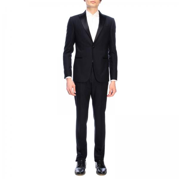 Z Zegna single-breasted tuxedo with one button in sable wool 260 gr