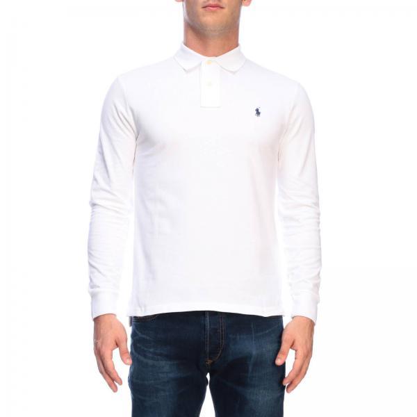 Polo slim fit de manga larga de algodón con logo bordado de Polo Ralph Lauren