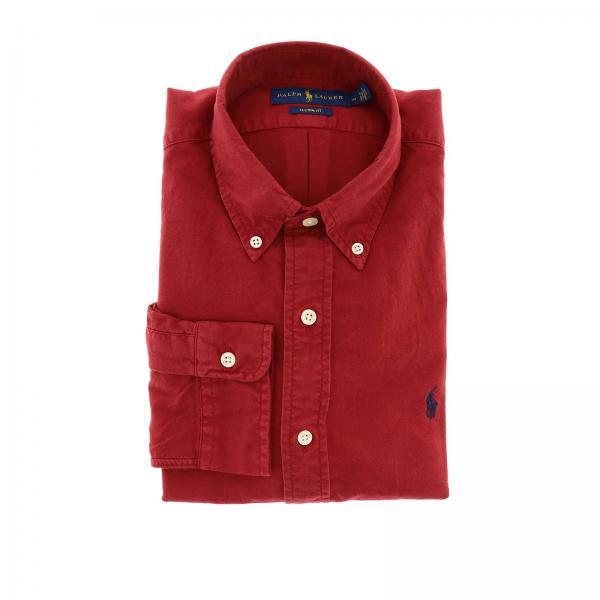 Camicia Oxford custom fit con collo button down e logo Polo Ralph Lauren