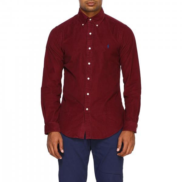 Camicia Polo Ralph Lauren con collo button down e logo