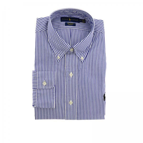 Stretch custom-fit shirt with button-down collar and Polo Ralph Lauren logo