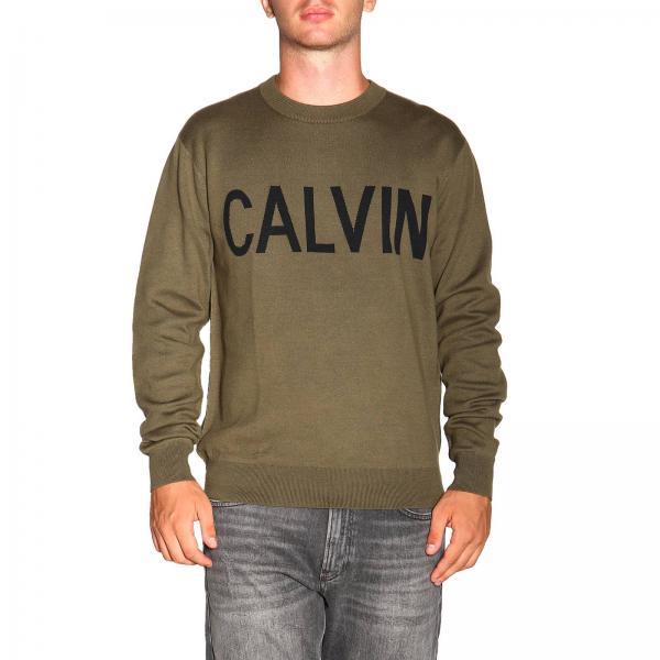 Maglia Calvin Klein Jeans con logo in jacquard