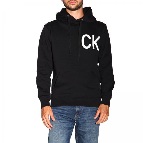 Felpa Calvin Klein Jeans con cappuccio e maxi logo