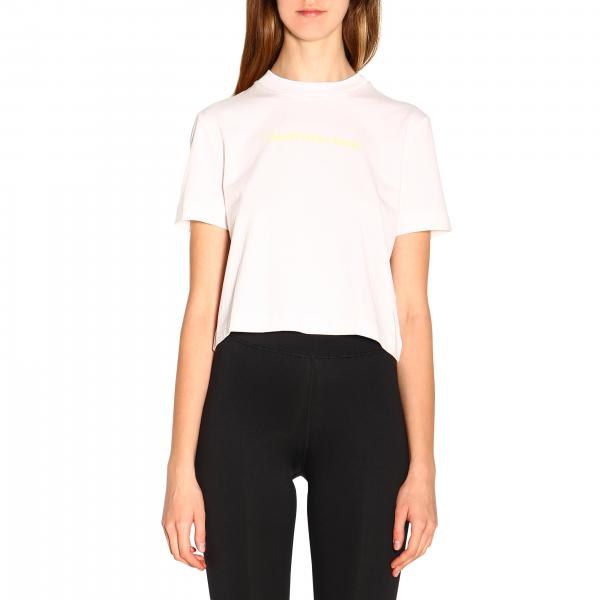 T-shirt Calvin Klein Jeans cropped  a maniche corte con logo