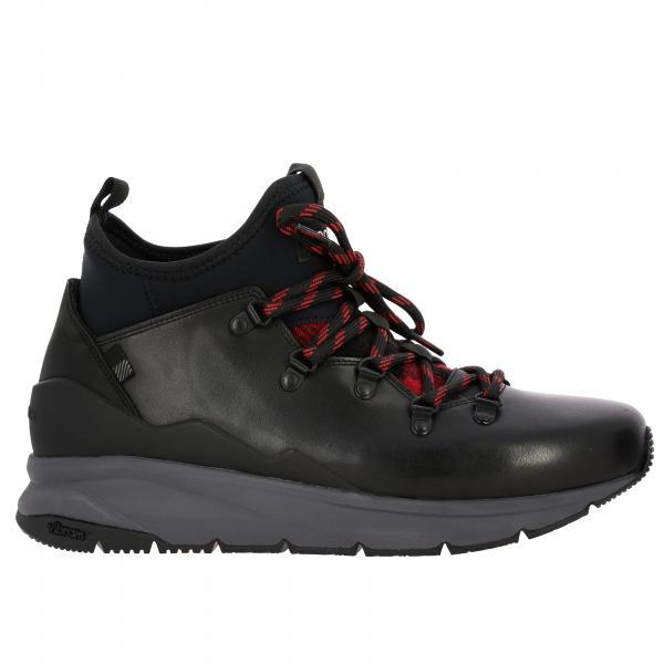 Woolrich 真皮氯丁橡胶徒步鞋带踝靴