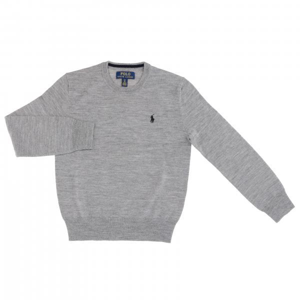 Pullover Polo Ralph Lauren Boy a girocollo in lana Merinos