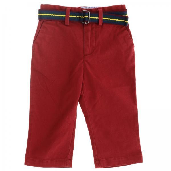 Pantalone Polo Ralph Lauren Infant in cotone con tasche america e cintura