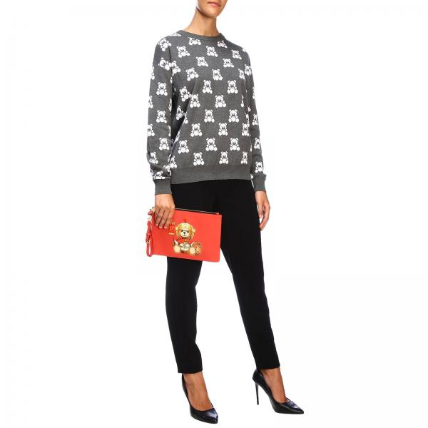 Clutch CouturePochette Stampa Pelle Sintetica Donna 8429 Con 8210 Teddy Gladiatore Moschino In TJFlK1c