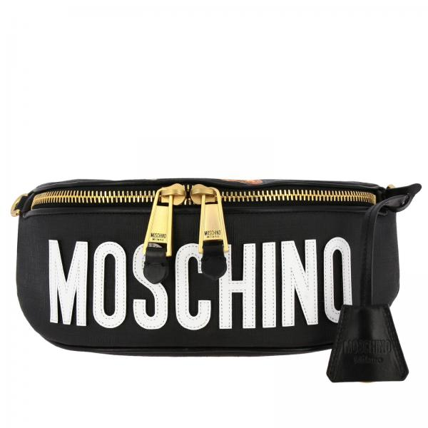 Moschino Couture Bauchtasche aus Kunstleder mit Gladiator-Teddy-Print