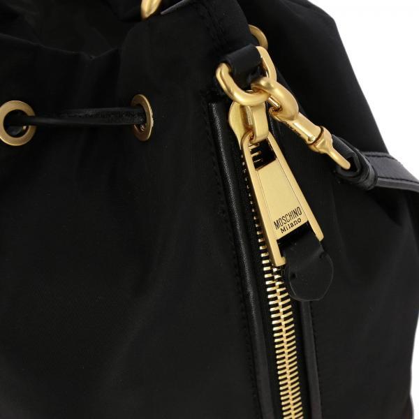 Mini Metallico NeroA Moschino Lettering In Donna Con 8202 Borsa Couture Secchiello 7407 Nylon FlK1Jc