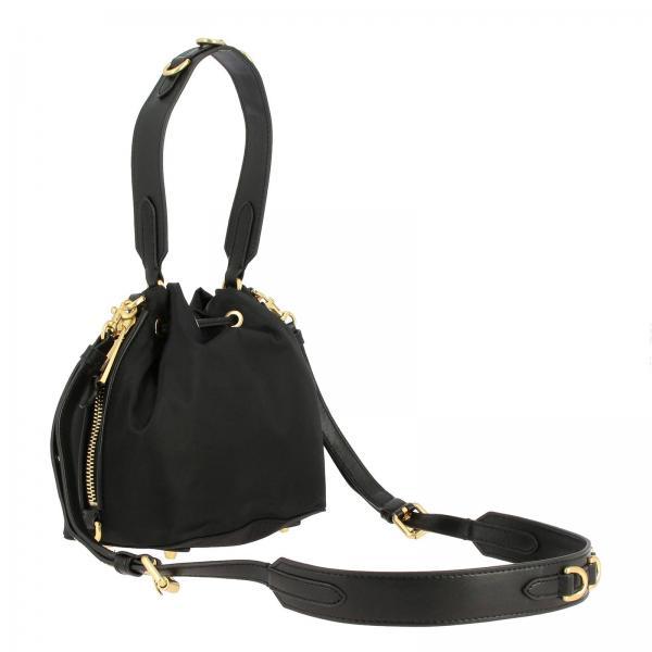 In Couture Secchiello Nylon Con 8202 Moschino Maxi Lettering Donna Borsa Mini NeroA 7410 Metallico eYD2EIH9W
