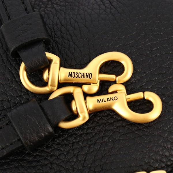 Borse Pelle Couture In Vera Metallico A Con Tracolla Moschino 8003 8417 Lettering Donna NeroBorsa Secchiello Maxi PkOZiXu