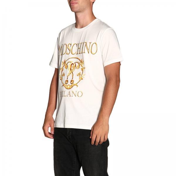5240 CoutureA Corte Barocco Maniche Logo shirt Uomo 0720 Recycle Con Maxi Stampa T Moschino J5Tlcu3FK1