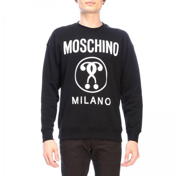 Und Aufdruck Couture Moschino Mit Sweatshirt Recycle Rundhalsausschnitt BCxhQrsdt