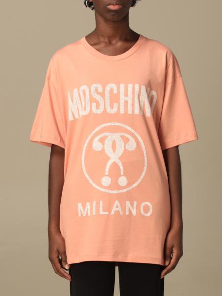 Felpa Moschino Couture a girocollo con stampa Recycle Moschino
