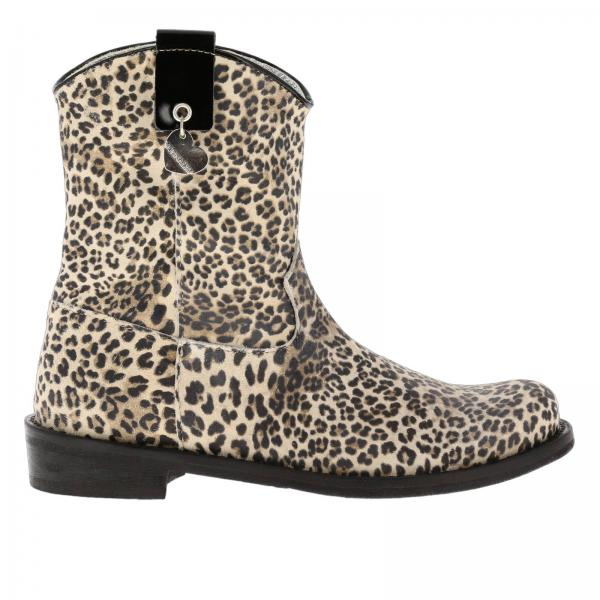 Monnalisa Texan boots in animalier fabric