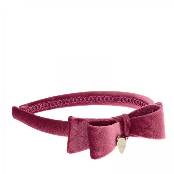 Monnalisa velvet headband with maxi bow