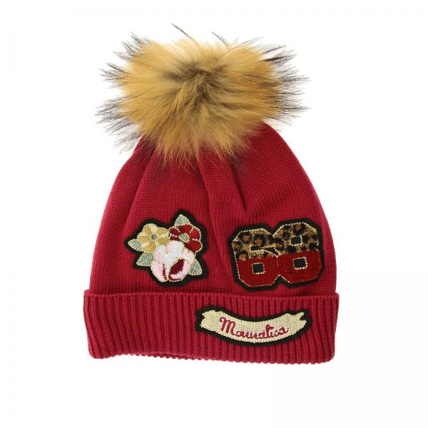 Monnalisa hat with pompon and patch